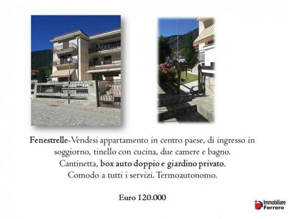 Appartamento in vendita a Fenestrelle, Fenetrelle, Arredato, con giardino, 70 mq - Foto 2