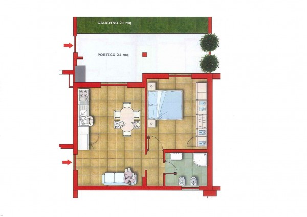 Appartamento in vendita a Roma, Con giardino, 50 mq - Foto 2