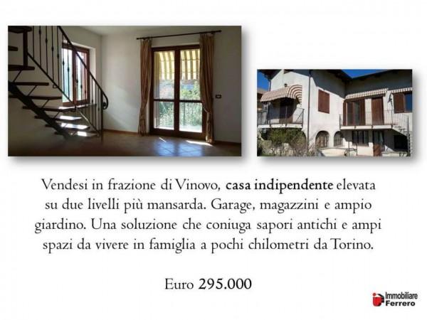 Casa indipendente in vendita a Vinovo, Tetti Borno, Con giardino, 280 mq - Foto 2
