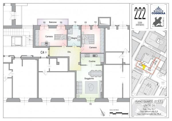 Appartamento in vendita a Torino, 96 mq - Foto 2