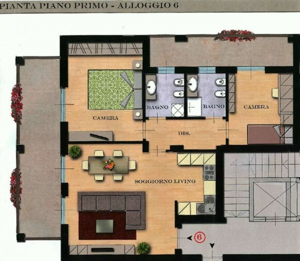 Appartamento in vendita a Orbassano, Vicinanze Centro, 90 mq - Foto 6