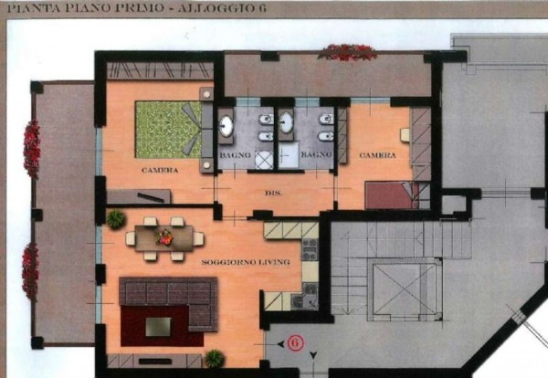 Appartamento in vendita a Orbassano, Vicinanze Centro, 90 mq - Foto 4