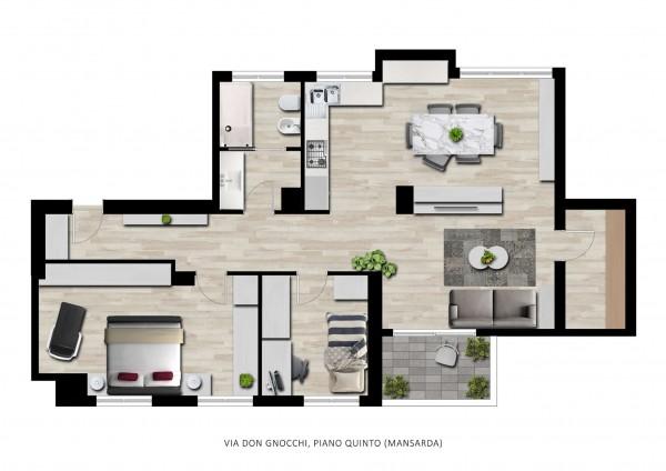 Appartamento in vendita a Milano, San Siro, Con giardino, 95 mq - Foto 2