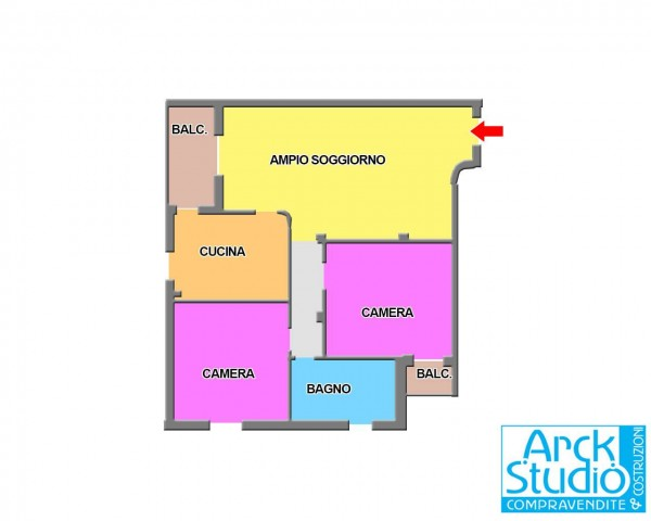 Appartamento in vendita a Pozzo d'Adda, Con giardino, 100 mq - Foto 2
