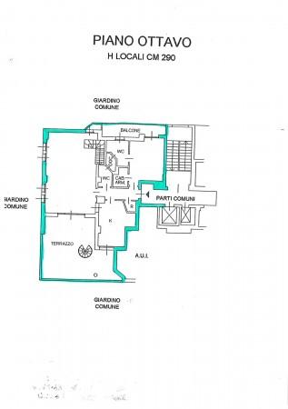 Appartamento in vendita a Milano, Ripamonti, Con giardino, 236 mq - Foto 8