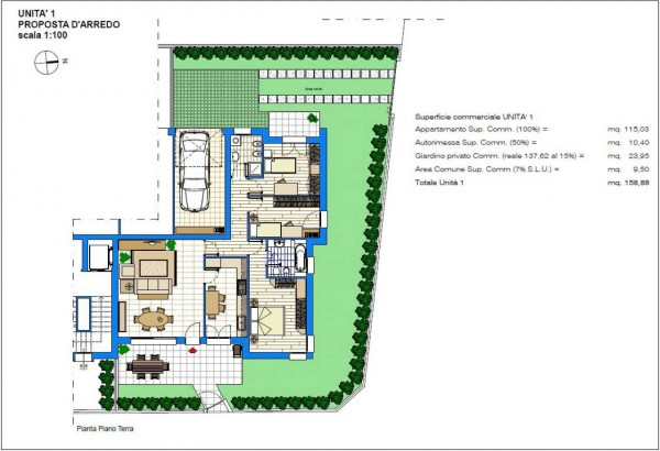 Appartamento in vendita a Albignasego, Con giardino, 158 mq