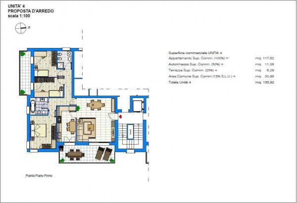 Appartamento in vendita a Albignasego, Con giardino, 156 mq