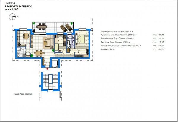 Appartamento in vendita a Albignasego, Con giardino, 133 mq - Foto 5