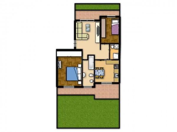 Appartamento in vendita a Senago, Adiacente Comasina Castelletto, Con giardino, 100 mq - Foto 2