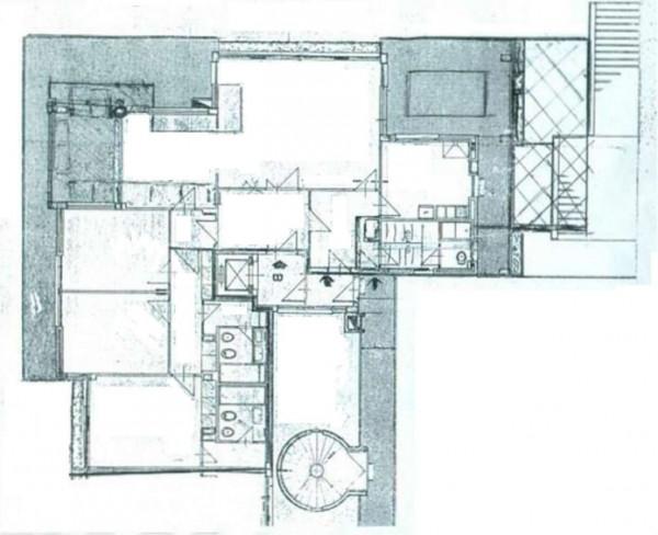 Appartamento in vendita a Roma, Camilluccia, Con giardino, 270 mq - Foto 4
