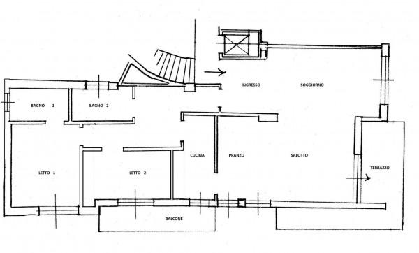 Appartamento in vendita a Roma, Monte Mario, Con giardino, 152 mq - Foto 3