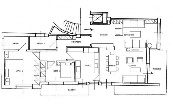 Appartamento in vendita a Roma, Monte Mario, Con giardino, 152 mq - Foto 2
