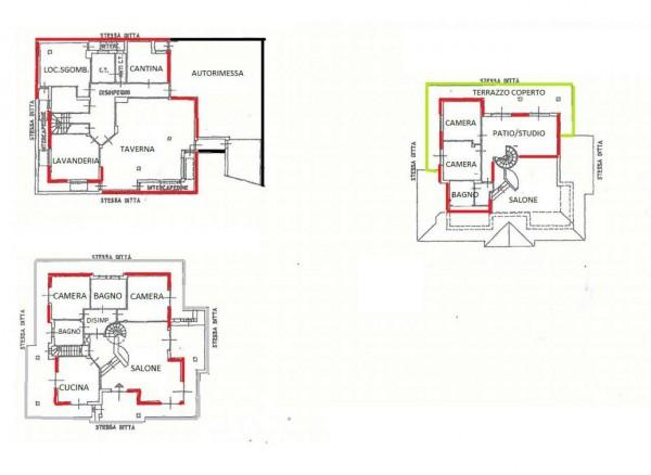 Villa in vendita a Alpignano, Centro, Con giardino, 364 mq - Foto 3