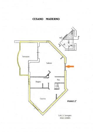 Appartamento in vendita a Cesano Maderno, Con giardino, 149 mq - Foto 4