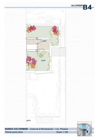 Villetta a schiera in vendita a Monterenzio, Pizzano, Con giardino, 205 mq - Foto 8