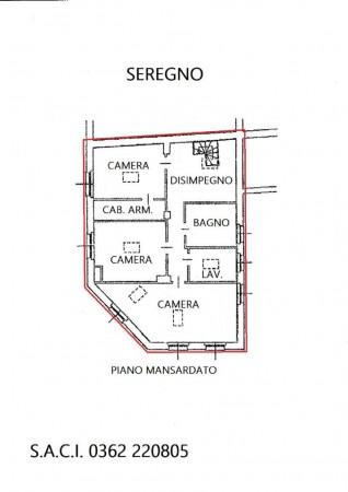 Appartamento in vendita a Seregno, Centro, Con giardino, 220 mq - Foto 3