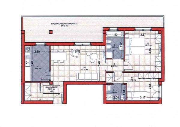 Appartamento in vendita a Roma, Colle Oliva, Con giardino, 91 mq - Foto 9