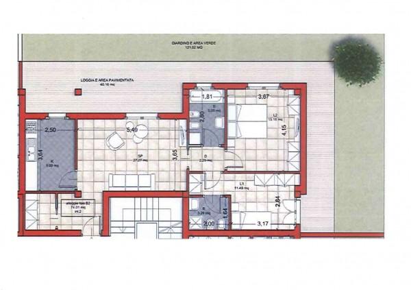Appartamento in vendita a Roma, Colle Oliva, Con giardino, 91 mq - Foto 5