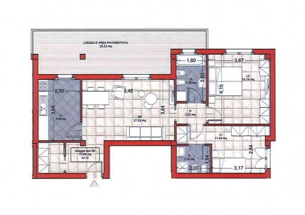 Appartamento in vendita a Roma, Colle Oliva, Con giardino, 91 mq - Foto 3
