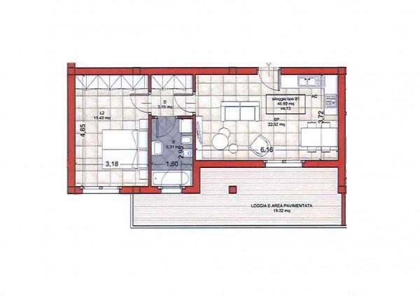 Appartamento in vendita a Roma, Colle Oliva, 55 mq - Foto 2