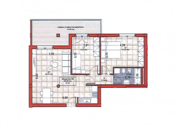 Appartamento in vendita a Roma, Colle Oliva, 72 mq - Foto 2