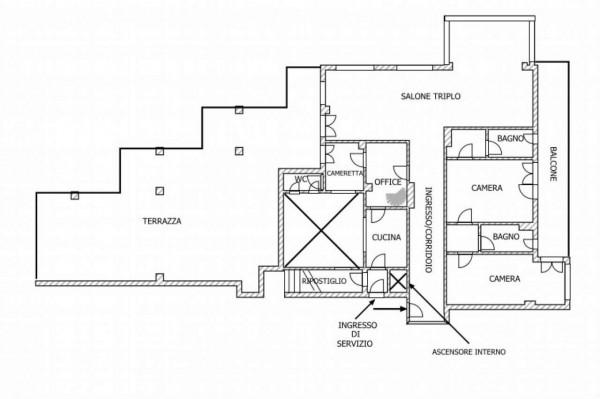 Appartamento in vendita a Roma, Vigna Clara- Camilluccia - Cassia, Con giardino, 318 mq - Foto 3