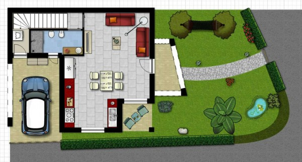 Villetta a schiera in vendita a Sinnai, Roccheddas, Con giardino, 119 mq - Foto 3