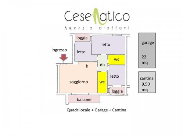 Appartamento in vendita a Cesenatico, Madonnina, 114 mq - Foto 2
