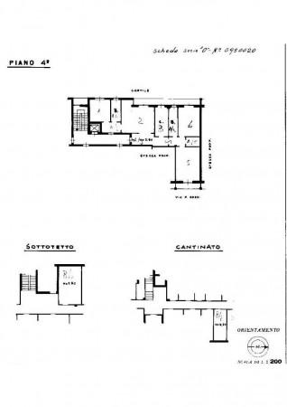 Appartamento in vendita a Milano, Affori, Con giardino, 130 mq - Foto 26