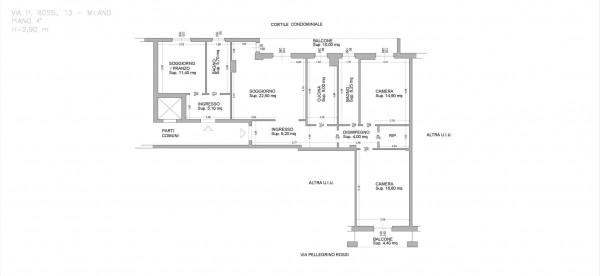 Appartamento in vendita a Milano, Affori, Con giardino, 130 mq - Foto 2