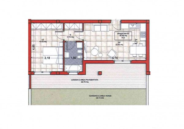 Appartamento in vendita a Ciampino, Colle Oliva, Con giardino, 55 mq - Foto 2