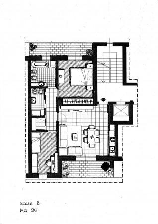 Appartamento in vendita a Milano, Portello, Con giardino, 96 mq
