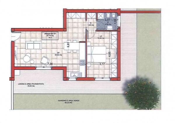 Appartamento in vendita a Roma, Colle Oliva, Con giardino, 65 mq - Foto 2