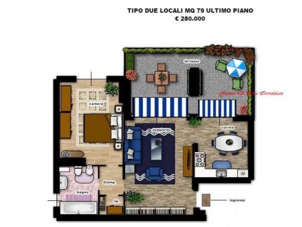 Appartamento in vendita a Milano, Precotto, Con giardino, 52 mq - Foto 3