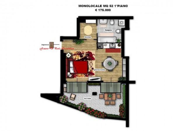 Appartamento in vendita a Milano, Precotto, Con giardino, 52 mq - Foto 8