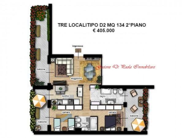 Appartamento in vendita a Milano, Portello, Con giardino, 125 mq - Foto 9