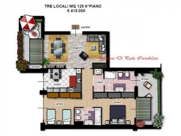 Appartamento in vendita a Milano, Portello, Con giardino, 125 mq
