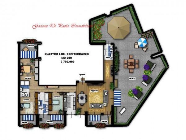 Appartamento in vendita a Milano, Portello, Con giardino, 125 mq - Foto 5