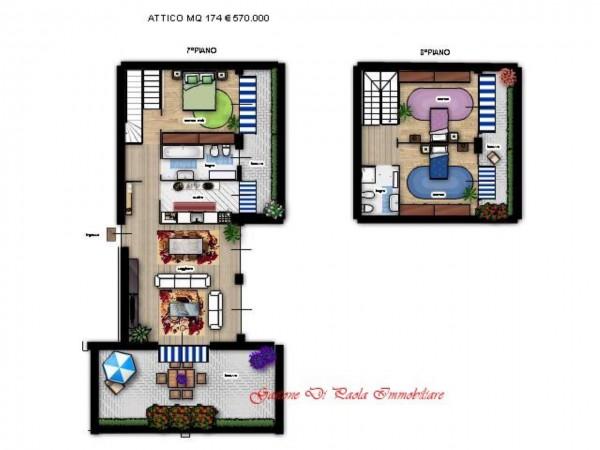 Appartamento in vendita a Milano, Portello, Con giardino, 174 mq