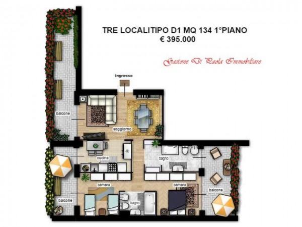 Appartamento in vendita a Milano, Portello, Con giardino, 174 mq - Foto 16