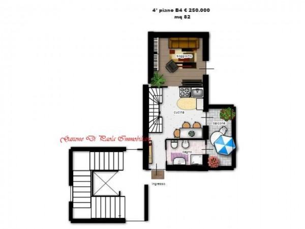 Appartamento in vendita a Milano, Precotto, Con giardino, 86 mq - Foto 3