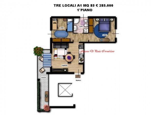 Appartamento in vendita a Milano, Precotto, Con giardino, 86 mq - Foto 7