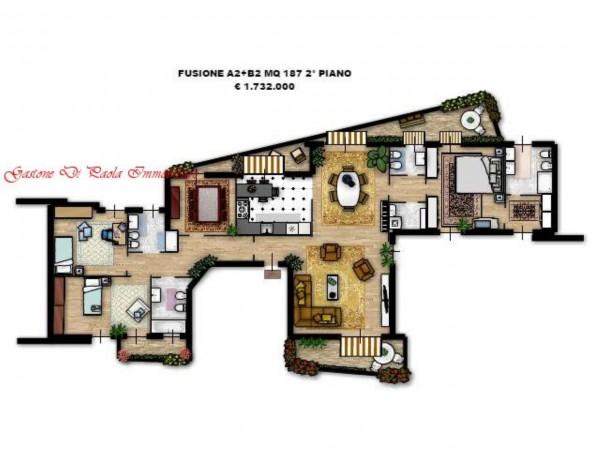 Appartamento in vendita a Milano, Moscova, Con giardino, 187 mq - Foto 20