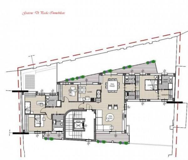 Appartamento in vendita a Milano, Moscova, Con giardino, 187 mq - Foto 2