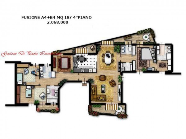 Appartamento in vendita a Milano, Moscova, Con giardino, 187 mq - Foto 22
