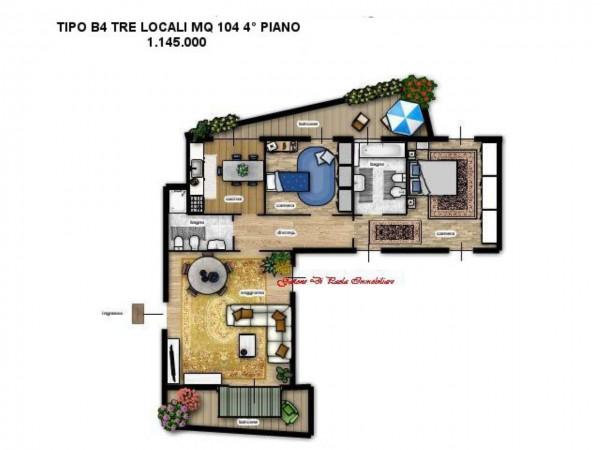Appartamento in vendita a Milano, Moscova, Con giardino, 187 mq - Foto 12