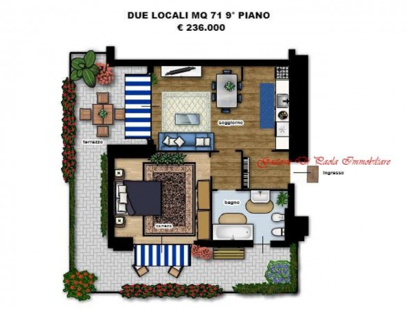 Appartamento in vendita a Milano, Precotto, Con giardino, 71 mq - Foto 9