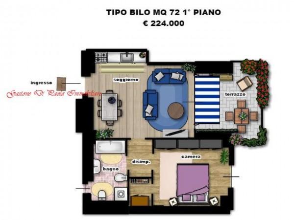 Appartamento in vendita a Milano, Precotto, Con giardino, 71 mq - Foto 10