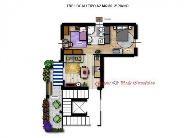 Appartamento in vendita a Milano, Precotto, Con giardino, 65 mq - Foto 3