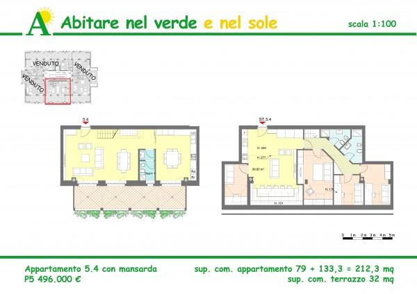 Appartamento in vendita a Agrate Brianza, Agrate Bianza, 212 mq - Foto 2